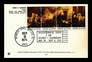 DR JIM STAMPS US BICENTENNIAL EXPO CANCEL KENNEDY SPACE CENTER POSTCARD 1976