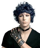 Gants de punk la paire deguisement accessorie années 80 cuir effet rock mitaines