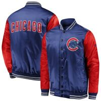 Out of Stock Men's Chicago Cubs Fanatics Royal/Red Iconic Satin Jacket Size L