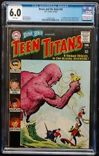 BRAVE+BOLD #60 1965 CGC 6.0 KEY BOOK 2ND APPEARANCE TEEN TITANS BONE WHITE PAGES