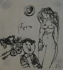 LEO ROTH (1914-2002), Ink on Paper, The Cart Driver and The Nude, Signed