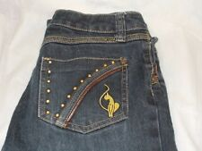 "Baby phat gold cat jeans size 16 waist 30"" women's girl's pants"