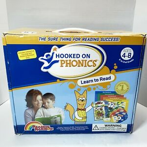 Hooked On Phonics Learn To Read Ages 4-8 (K-2nd Grade) COMPLETE Reading Program