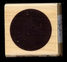 HAMPTON ART rubber stamp SOLID CIRCLE  wood mounted Accent