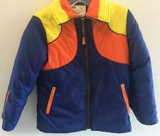 Montgomery Ward Vintage Boys Quilted Puff Jacket With Hood Size 12 (a11)