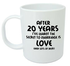 After 20 Years Ive Learnt Mug 20th Wedding Anniversary Gifts For Men Him Husband