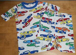 Hanna Andersson Boys Short Johns Pajamas Size 130 (8) Car Print