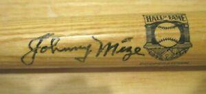 Mini Hall of Fame Louisville Slugger Bat Signed by Johnny Mize