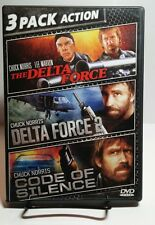 Delta Force/Delta Force 2/Code of Silence (DVD, 2010)Used Once-Free S&H-Chuck N