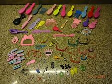 Barbie Large Lot of Brushes - Combs - Glasses - Mirrors - Rollars - Earrings +