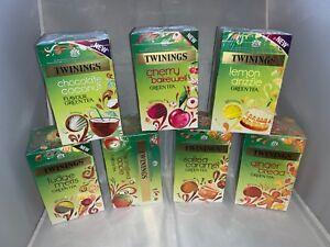 Twinings Enveloped Green Tea (Gingerbread/Cherry/Caramel/Choc&Coconut/Lemon)