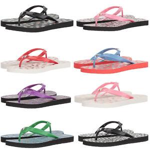 Coach Womens Flip Flops Post Beach House Shower Sandals Shoes Signature Floral