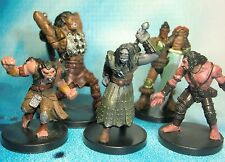 Dungeons & Dragons Miniatures Lot  Half Orc Characters Half Giant !!  s112