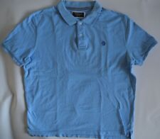 McNeal Short Sleeved Blue two-Ply Cotton Polo Shirt w/ Chest Logo - XXL