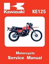 Kawasaki service manual 1981 KE125-A8 & 1982 KE125-A9