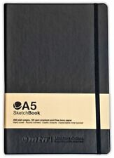 MTN A5 SKETCHBOOK - 200 PAGES OF 120GSM ACID FREE WHITE PAPER - HARDCOVER