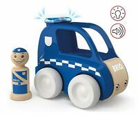 BRIO - MY HOME TOWN - VOITURE DE POLICE SON ET LUMIERE - NEUF