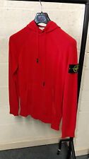 Stone Island Pigment Dyed Hooded Knit In Red BNWT