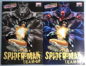 SUPERIOR SPIDER-MAN TEAM-UP #4 RAMOS NEW YORK 2013 COMIC CON 2 PACK VARIANT SET
