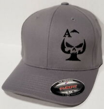 Ace of Spades Sniper Embroidered FLEXFIT Gray Cap Hat, 5001