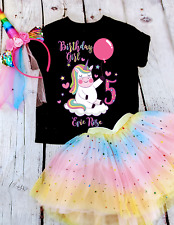 Unicorn Birthday Tshirt Girls unicorn birthday shirt any age