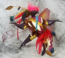 Vintage 1997 Betty Nelson Daniel Mockingbird Bird Doll Sculpture Signed Pink