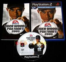 TIGER WOODS PGA TOUR 2005 Ps2 Versione Eropea 1ª Edizione ••••• COMPLETO