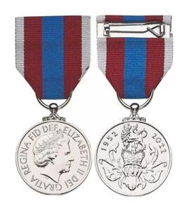 Pre Order Queens Platinum Jubilee Miniature Medal - Arrival Jan 2022 QPJM