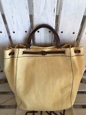 Henry Cuir Beguelin  Collecter Vintage leather bucket Arm Tote