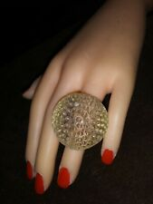 Bold Huge Novelty Clear GOLFBALL plastic ring size 8