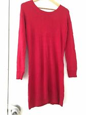 Sportsgirl angora fur blend long sleeve red dress size XXS 6 8