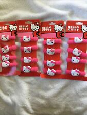 Hello Kitty Elastic Hair Tie Pony Tail Holder Lot Of 4 (16 Total) Party Favors