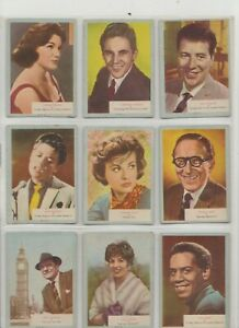 Who-Z-At Star by A&BC Gum Full set of 70 cards Issued in 1961