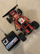 Nikko Red Turbo Panther Vintage R/C Frame Buggy with Remote Working