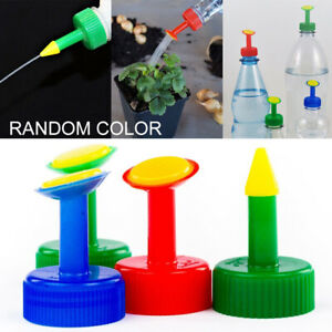 4x PVC Gießaufsätze für Wasserflaschen Ballbrause Gießbrause Pflanzenpflege