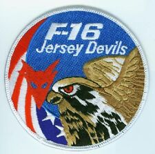 FIGHTING FALCON F-16 JET FIGHTER SWIRL PATCH COLLECTIONS: Jersey Devils Driver