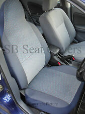 i - TO FIT A TOYOTA PRIUS CAR, SEAT COVERS, CHEVRON BLUE FABRIC, 2 FRONTS
