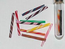 4 Pc.Mix Tiny vintage miniature dollhouse food Hard Rock Candy swirl sticks New