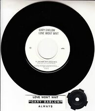 "GARY BARLOW  Love Won't Wait 7"" 45 rpm vinyl record + juke box title strip RARE!"