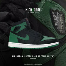 Nike Mens Air Jordan 1 Retro High OG I AJ1 2020 Pine Green 2.0 Black 555088-030