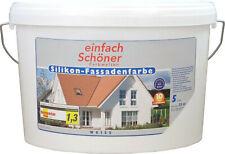 Wilckens Silikonharz Fassadenfarbe weiß - Außenfarbe Putz Beton Mauerwerk Sockel
