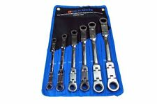 BERGEN 6pc Twin-Flexible Double Ring Ratchet Spanner Wrench Set 8-19mm B1906