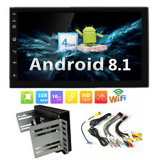 "Double 2 DIN Android 8.1 7"" Touch Car GPS Stereo Radio Quad Core Player +Bracket"