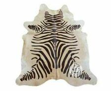Zebra Cowhide Rug Skin Print Faux Cow Hide Premium Quality