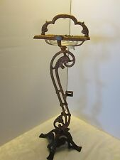 ART NOUVEAU CAST IRON SMOKING STAND ASHTRAY ROOSTER PARROT W.H.H.110