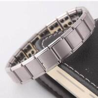 Unisex Fashion Titanium Steel Magnetic Therapy Energy Bracelet Health Care Gifts