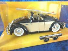 + VOLKSWAGEN VW Käfer Hebmüller Cabrio mit Surfbrett  JADA 1:24 beige-schwarz
