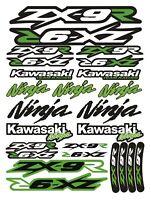 ZX-9R Ninja Racing Motorcycle Decals Stickers Set Fairing Laminated ZX9R ZXR /85