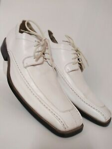 Stacy Adams Dress Shoes White All Leather Upper/Lining Men's Size 11