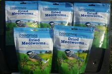 5 BAGS dried mealworms bird birds meal worms all year round feed for wild birds